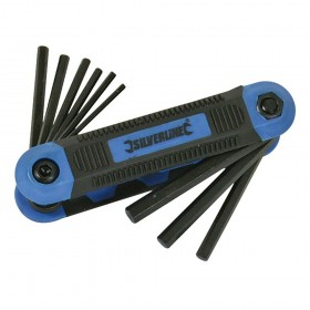"""Silverline Hex Key Imperial Expert Tool 9pce 5/64"""" - 1/4"""""""