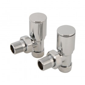 Plumbob Angled Heated Towel Radiator Valves 2pk 15mm - 784115