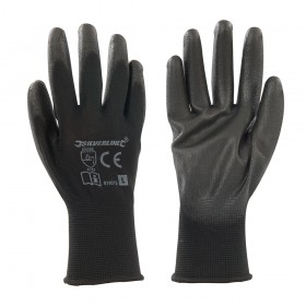 Silverline Black Palm Gloves Large