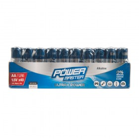 Powermaster AA Super Alkaline Battery LR6 40pk - 827540