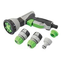 Silverline Soft-Grip Spray Gun Quick Connect Set 5pce