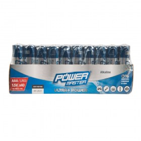 Powermaster AAA Super Alkaline Battery LR03 40pk - 867060