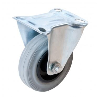 Fixman Fixed Rubber Castor 100mm 70kg