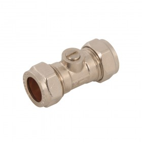 Plumbob Isolating Valve Chrome Plated 15mm - 880971