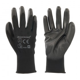 Silverline Black Palm Gloves Medium