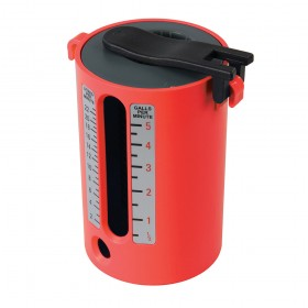 Dickie Dyer Flow Measure Cup 2.5-22Ltr / 1/2-5 Gallons - 50.124RB Red