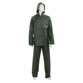 "Silverline Rain Suit Green 2pce M 72 - 126cm (28 - 50"")"