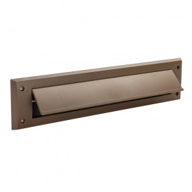 Fixman Letterbox Draught Seal with Flap 338 x 78mm Brown
