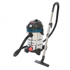 Silverline Silverstorm 1250W Wet & Dry Vacuum Cleaner 30Ltr - 974451