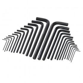 Silverline Hex Key Long Series Set 25pce Metric & AF