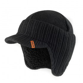 Scruffs Peaked Knitted Hat Black One size - T50986