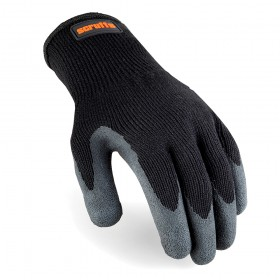 Scruffs Utility Latex Coated Gloves Black Large - T50997