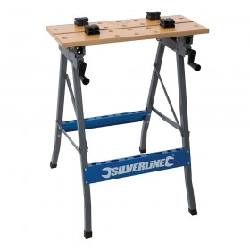 Silverline Heavy Duty Flip-Top Workbench 150kg