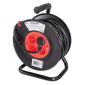 Silverline European Type F Schuko Cable Reel 230V – 197277