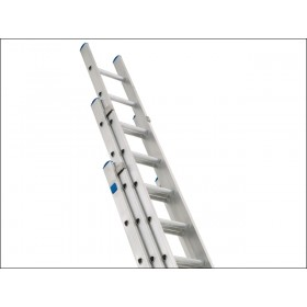 Zarges Industrial Extension Ladder 3-Part D Rung 3 x 14