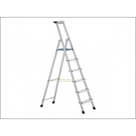 Zarges Anodised Trade Platform Steps Stepladder 7 Rungs