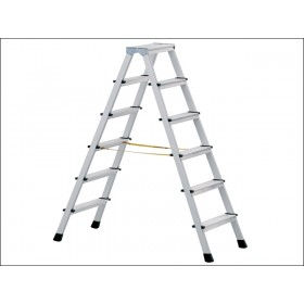 Zarges Anodised Double Sided Steps Stepladder 2 x 7 Rungs