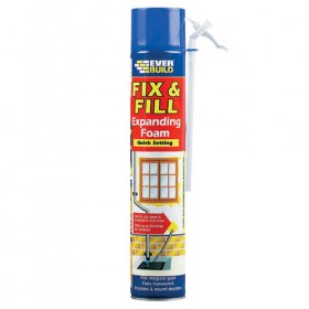 Everbuild Fix & Fill Hand Held Expanding Foam 750ml - Box of 12