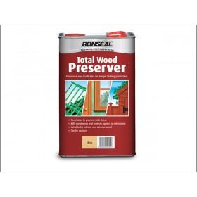 Ronseal Total Wood Preserver 5L Light Brown