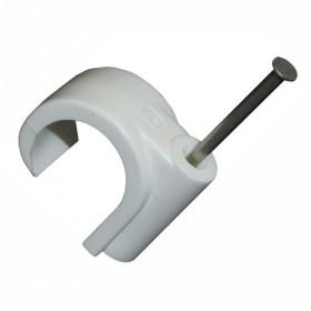 28mm - Unifix Tradefix Masonry Nail Pipe Clips White - Box of 50