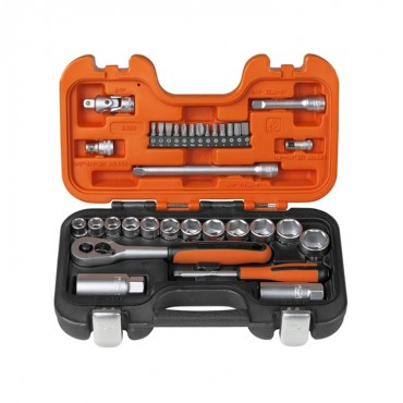 Bahco S330 Socket Set 33-Piece 1/4in & 3/8in Drive