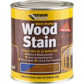 Everbuild Quick Drying Wood Stain - Teak 750ml