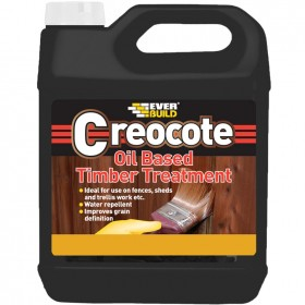 Everbuild Creocote Wood Preservative Treatment and Creosote Replacement - Light Brown 4L