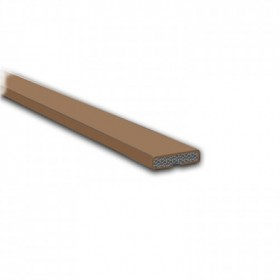 Intumescent Fire Door Seal Brown 15mm x 4mm x 1.05mtr - Pack of 50