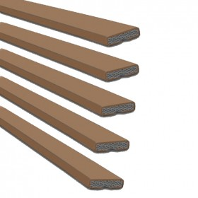Intumescent Fire Seal Single Door Pack Brown 15mm x 4mm - Pack of 5