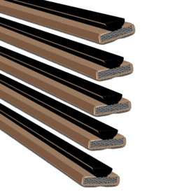 Intumescent Fire & Smoke Seal Single Door Pack Brown 15mm x 4mm - Pack of 5