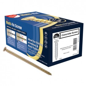 Multi-Fix Concrete Screws - Yellow