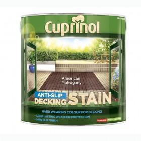 Cuprinol Anti Slip Decking Stain 2.5L Amercian Mahogany