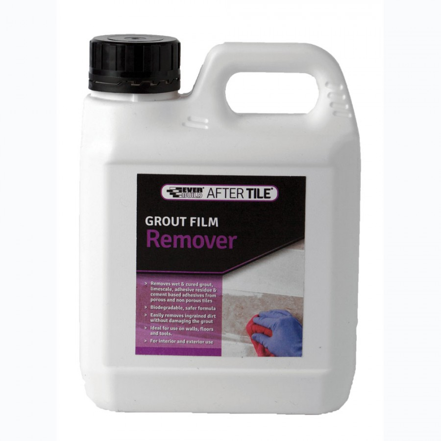 Glue And Epoxy Removal From Concrete Floor After The Tiles Are Removed: Everbuild Grout Film And Tile Adhesive Remover 1L