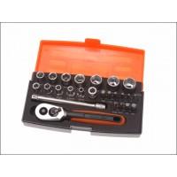 Bahco SL25 Socket Set 25-Piece 1/4-Inch Drive