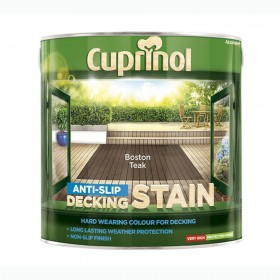 Cuprinol Anti Slip Decking Stain 2.5L Boston Teak