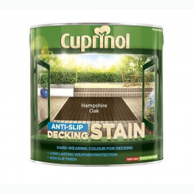 Cuprinol Anti Slip Decking Stain 2.5L Hampshire Oak