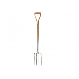 Faithfull Stainless Steel Border Fork - Ash Shaft YD