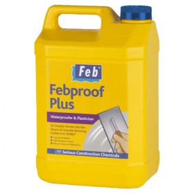 Feb Febproof Plus Waterproofer & Plasticiser - 5L
