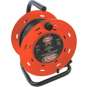Faithfull Cable Reel 25m 13 Amp 240v