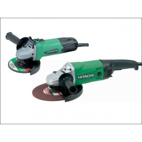 Hitachi G12SS/G23SS 115mm & 230mm Angle Grinder Twin Pack