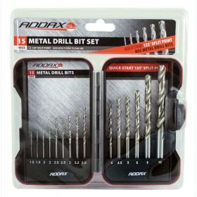 Addax Metal HSS Drill Bit Set 15pce