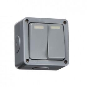 Knightsbridge IP66 2 Gang 2 Way Outdoor Switch