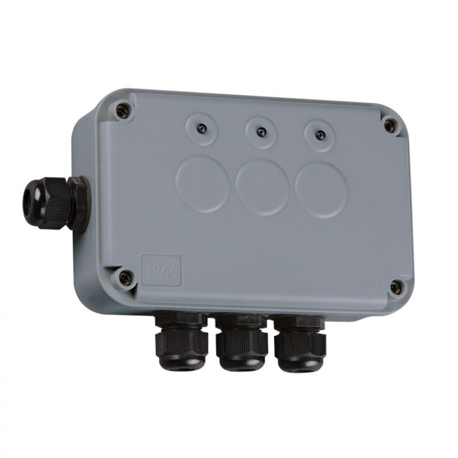 Knightsbridge ip66 3 gang remote outdoor switch box ip663g weatherproof series qwikfast for Exterior electrical box for light