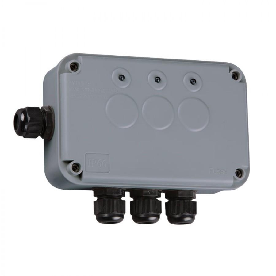 knightsbridge ip66 3 gang remote outdoor switch box ip663g weatherproof series qwikfast