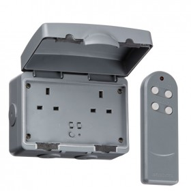 Knightsbridge IP66 13A 2G Outdoor Remote Socket