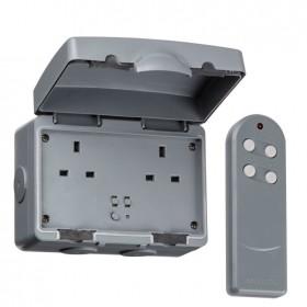 Knightsbridge IP66 13A 2G Outdoor Remote Socket