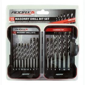 Addax Masonry Drill Bit Set 15pce