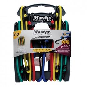 Masterlock Twin Wire Bungee Cords Organiser Pack of 10