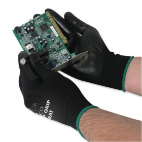 Polyco Matrix P Grip PU Electron Gloves Size 8 (Pack of 12)
