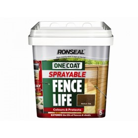 Ronseal One Coat Sprayable Fencelife Black Oa 5L